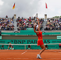 Ana Ivanovic (SRB) against Alisa Kleybanova (RUS) (28) in the second round of the women's singles. Alisa Kleybonova beat Ana Ivanovic 6-3 6-0..Tennis - French Open - Day 4 - Wed 26 May 2010 - Roland Garros - Paris - France..© FREY - AMN Images, 1st Floor, Barry House, 20-22 Worple Road, London. SW19 4DH - Tel: +44 (0) 208 947 0117 - contact@advantagemedianet.com - www.photoshelter.com/c/amnimages