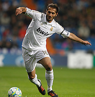 04.03.2012 SPAIN - UEFA Champions League Quarter-Final 2nd  match played between Real Madrid CF vs Apoel FC (5-2) at Santiago Bernabeu stadium. The picture show Hamit Altintop (Turkish/German Midfielder of Real Madrid)