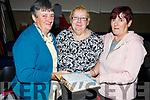 Bridget Looney (Kilgarvan), Noreen Hoare (Killorglin) and Chris Looney (Killarney) attending the St Marys Basketball Monster bingo night in Castleisland on Tuesday.