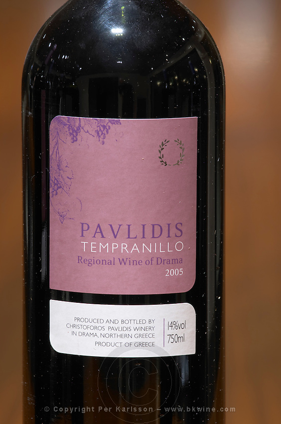 Tempranillo. Ktima Pavlidis Winery, Drama, Macedonia, Greece