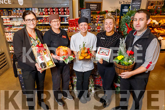 Launching Garvey's Supervalu Christmas Fair on Tuesday.<br /> L to r: Sandra Lynch, Mary Ellen Barry, Niamh Stack, Amber Moriarty and Kevin O'Donoghue.
