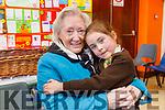 Aoibhín Ní Shuilleabhain giving her grandmother Creda O'Mara a big hug at the Gaelscoil Mhic Easmainn Grandparents day on Thursday.