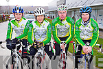 Kieran Murphy, Micheál O'Shea, Brendan O'Sullivan and Jamie O'Shea, all members of Killorglin cycling club who took part in the Lacey Cup Cycle on Sunday.