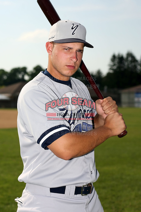 July 5th 2008:  Erik Lovett of the Staten Island Yankees, Class-A affiliate of the NY Yankees, during a game at Falcon Park in Auburn, NY.  Photo by:  Mike Janes/Four Seam Images