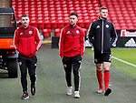 John Fleck, George Baldock and Jack O'Connell of Sheffield Utd during the Premier League match at Bramall Lane, Sheffield. Picture date: 9th February 2020. Picture credit should read: Simon Bellis/Sportimage