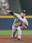 Masahiro Tanaka (Yankees),<br /> AUGUST 28, 2015 - MLB : Masahiro Tanaka of the New York Yankees pitches against the Atlanta Braves during the Major League Baseball inter league game at Turner Field in Atlanta, United States.<br /> (Photo by AFLO)