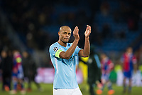 Manchester City's Vincent Kompany applauds the fans at the final whistle <br /> <br /> Photographer Craig Mercer/CameraSport<br /> <br /> UEFA Champions League Round of 16 First Leg - Basel v Manchester City - Tuesday 13th February 2018 - St Jakob-Park - Basel<br />  <br /> World Copyright &copy; 2018 CameraSport. All rights reserved. 43 Linden Ave. Countesthorpe. Leicester. England. LE8 5PG - Tel: +44 (0) 116 277 4147 - admin@camerasport.com - www.camerasport.com