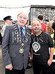Mayor of Drogheda Frank Godfrey with Brendan Fay at Fleadh Ceoil na hEireann. Photo:Colin Bell/pressphotos.ie
