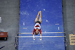 21 APR 2012:  Katherine Grable of the University of Arkansas finishes her performance on the uneven bars during the Division I Women's Gymnastics Championship held at the Gwinnett Center Arena in Duluth, GA. Alabama placed first with a team score of 197.850. Joshua Duplechian/NCAA Photos