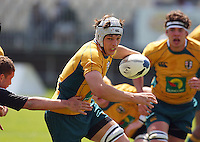 Luke Jones breaks during the International rugby match between New Zealand Secondary Schools and Suncorp Australia Secondary Schools at Yarrows Stadium, New Plymouth, New Zealand on Friday, 10 October 2008. Photo: Dave Lintott / lintottphoto.co.nz