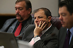 From left, Assemblyman Cresent Hardy, R-Mesquite, Paul Anderson, R-Las Vegas, and Senate Minority Leader Michael Roberson, R-Las Vegas, work in committee at the Legislative Building in Carson City, Nev. on Friday, Feb. 8, 2013. .Photo by Cathleen Allison