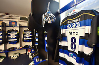 A general view of Leroy Houston's matchday jersey hung up in the Bath Rugby changing rooms. Aviva Premiership match, between Bath Rugby and Exeter Chiefs on October 17, 2015 at the Recreation Ground in Bath, England. Photo by: Patrick Khachfe / Onside Images