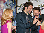 Patricia Clarkson, Bradley Cooper and Alessandro Nivola attend the 'The Elephant Man' Broadway Cast photo call at Sardi's on October 21, 2014 in New York City.