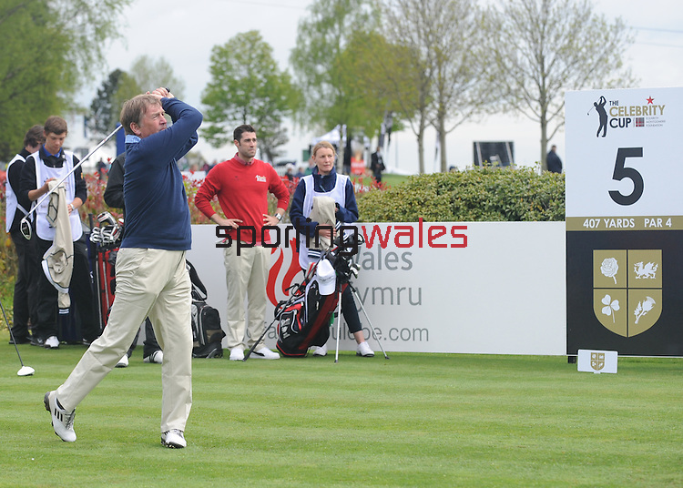 Scotland's  Kenny Dalglish tees off the 5th..Celebrity Cup at Golf Live  - Day 2 - Celtic Manor Resort - Saturday 11th  May  2013 - Newport ..© www.sportingwales.com- PLEASE CREDIT IAN COOK