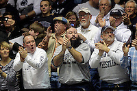 STATE COLLEGE, PA - FEBRUARY 16: Wrestling fans of the Penn State Nittany Lions cheer during a match against of the Oklahoma State Cowboys on February 16, 2014 at Rec Hall on the campus of Penn State University in State College, Pennsylvania. Penn State won 23-12. (Photo by Hunter Martin/Getty Images) *** Local Caption ***