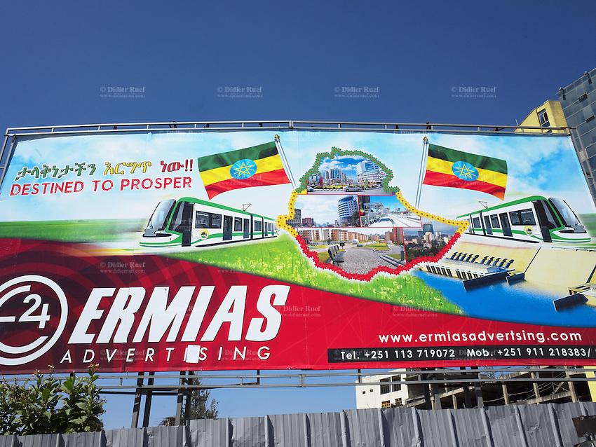 Addis Ababa  Light rail transportation  Billboard