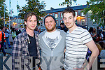 Abbeyfeale friends Conor Lane, Sean Tierney and Eoin Kelly pictured last saturday night in Newcastlewst at Westfest 2013.