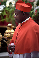 Cardinal, Archbishop of Bangui, Dieudonne Nzapalainga, Pope Francis, during a consistory at Peter's basilica. Pope Francis has named 17 new cardinals, on November 19, 2016