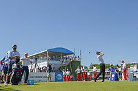 Jimmy Walker (USA) watches his tee shot on 10 during round 1 of the AT&T Byron Nelson, Trinity Forest Golf Club, at Dallas, Texas, USA. 5/17/2018.<br /> Picture: Golffile | Ken Murray<br /> <br /> <br /> All photo usage must carry mandatory copyright credit (© Golffile | Ken Murray)