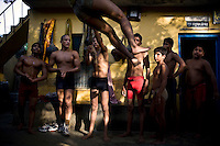 29 September 2008, India, Delhi - Kushti, Shri Hanuman Akhara in Old Delhi; Home to over 60 wrestlers, and akhara to over 60 more. This school has produced many medal winning wrestlers, the latest being the 3rd runner-up in the 2008 Olympic Games, Rajiv Tomar Pehelwan.  Photo : Suzanne Lee for The National.