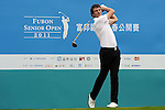 TAIPEI, TAIWAN - NOVEMBER 18:  Mitch Kierstenson of England tees off on the 10th hole during day one of the Fubon Senior Open at Miramar Golf & Country Club on November 18, 2011 in Taipei, Taiwan. Photo by Victor Fraile / The Power of Sport Images