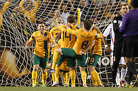 MELBOURNE, 11 JUNE 2013 - Mark BRESCIANO of Australia celebrates his goal a Round 4 FIFA 2014 World Cup qualifier match between Australia and Jordan at Etihad Stadium, Melbourne, Australia. Photo Sydney Low for Zumapress Inc. Please visit zumapress.com for editorial licensing. *This image is NOT FOR SALE via this web site.