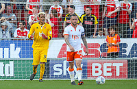 Blackpool's Christoffer Mafoumbi shouts encouragement after his side went 1-0 down<br /> <br /> Photographer Alex Dodd/CameraSport<br /> <br /> The EFL Sky Bet League One - Rotherham United v Blackpool - Saturday 5th May 2018 - New York Stadium - Rotherham<br /> <br /> World Copyright &copy; 2018 CameraSport. All rights reserved. 43 Linden Ave. Countesthorpe. Leicester. England. LE8 5PG - Tel: +44 (0) 116 277 4147 - admin@camerasport.com - www.camerasport.com