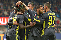 Moise Kean of Juventus celebrates with team mates after scoring the goal of 0-1 <br /> Ferrara 13-4-2019 Stadio Paolo Mazza Football Serie A 2018/2019 SPAL - Juventus <br /> Foto Andrea Staccioli / Insidefoto