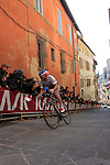 Zdenek Stybar (CZE) Etixx-Quick Step tackles the final vicious climb of Via S.Caterina in Siena during the 2015 Strade Bianche Eroica Pro cycle race 200km over the white gravel roads from San Gimignano to Siena, Tuscany, Italy. 7th March 2015<br /> Photo: Eoin Clarke/www.newsfile.ie