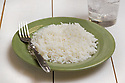 Plain cooked white rice