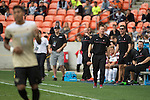 HOUSTON, TX - DECEMBER 11:  Head Coach Jeremy Gunn of Stanford University looks on during the Division I Men's Soccer Championship held at the BBVA Compass Stadium on December 11, 2016 in Houston, Texas.  Stanford defeated Wake Forest 1-0 in a penalty shootout for the national title. (Photo by Justin Tafoya/NCAA Photos via Getty Images)