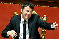 Matteo Renzi<br /> Roma 18-03-2015 Senato. Informativa del Presidente del Consiglio. Speech of the Premier.<br /> Photo Samantha Zucchi Insidefoto