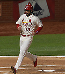 Cardinal player Matt Carpenter scored the first run of the game, on a hard single by teammate Matt Holliday to right field in the first innning.