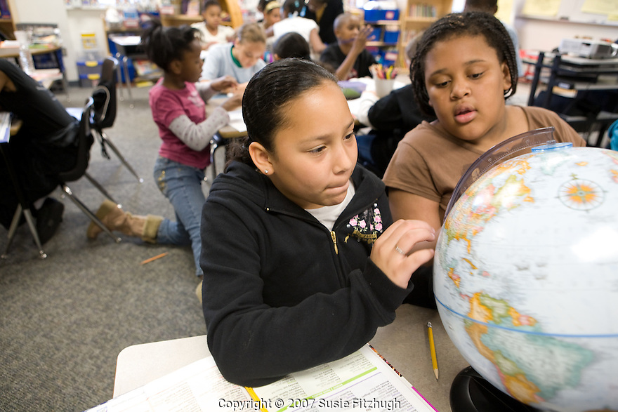 Madrona K-8 School in Seattle, WA: finding places on a globe