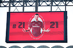 Zlatan Ibrahimovic of AC Milan pictured on the giant screen during the Serie A match at Giuseppe Meazza, Milan. Picture date: 6th January 2020. Picture credit should read: Jonathan Moscrop/Sportimage