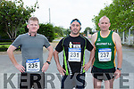 Jerry Fleming Milltown, Neil McSweeney Ballydaly and Humphrey Hickey Millstreey who ran in the Rathmore 5k on Sunday