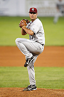 July 27, 2009:  Pitcher Jeremy Johnson of the Mahoning Valley Scrappers during a game at Dwyer Stadium in Batavia, NY.  Mahoning Valley is the NY-Penn League Short-Season Class-A affiliate of the Cleveland Indians.  Photo By Mike Janes/Four Seam Images