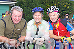 Mike Flanagan, Anne and Michael O'Callaghan Tralee on their bikes at the Castleisland fun Cycle race..