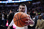 WINSTON-SALEM, NC - FEBRUARY 24: Notre Dame's Matt Farrell. The Wake Forest University Demon Deacons hosted the University of Notre Dame Fighting Irish on February 24, 2018 at Lawrence Joel Veterans Memorial Coliseum in Winston-Salem, NC in a Division I men's college basketball game. Notre Dame won the game 76-71.