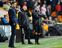 Blackpool manager Terry McPhillips and assistant Gary Brabin watch on from the technical area<br /> <br /> Photographer Alex Dodd/CameraSport<br /> <br /> The EFL Sky Bet League One - Blackpool v Sunderland - Tuesday 1st January 2019 - Bloomfield Road - Blackpool<br /> <br /> World Copyright © 2019 CameraSport. All rights reserved. 43 Linden Ave. Countesthorpe. Leicester. England. LE8 5PG - Tel: +44 (0) 116 277 4147 - admin@camerasport.com - www.camerasport.com