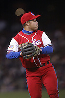 Michael Enriquez of the Cuban national team during championship game against Japan during the World Baseball Championships at Petco Park in San Diego,California on March 20, 2006. Photo by Larry Goren/Four Seam Images