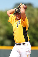 Pittsburgh Pirates pitcher Nick Kingham #57 during an Instructional League game against the Philadelphia Phillies at Pirate City on October 11, 2011 in Bradenton, Florida.  (Mike Janes/Four Seam Images)