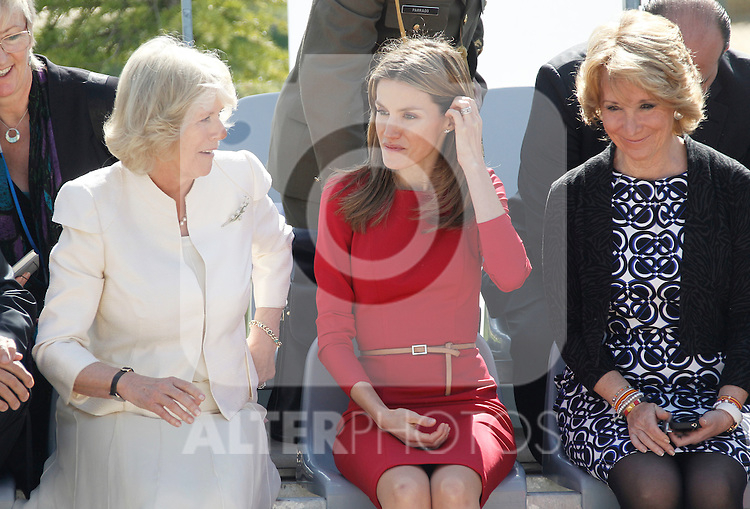Camilla, Duchess of Cornwall and Princess Letizia, Princess of Asturias  during a visit to the Guide Dogs Center at the ONCE Foundation on day two of a three day visit to Spain on March 31, 2011 in Madrid, Spain..Photo: Pool / Cesar Cebolla / ALFAQUI...