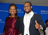 Newly signed Washington Redskins cornerback Josh Norman and Raina Kelley arrive for the 2016 White House Correspondents Association Annual Dinner at the Washington Hilton Hotel on Saturday, April 30, 2016.<br /> Credit: Ron Sachs / CNP<br /> (RESTRICTION: NO New York or New Jersey Newspapers or newspapers within a 75 mile radius of New York City)