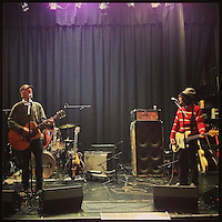 Chris Collingwood and Jody Porter of Fountians of Wayne do a soundcheck at the Sellersville Theater on March 17, 2013.