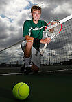 Cloverleaf's Ethan Dunbar picks up his fourth MVP in boys tennis. (RON SCHWANE / GAZETTE)