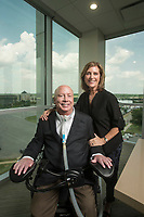 NWA Democrat-Gazette/BEN GOFF @NWABENGOFF<br /> Tommy Van Zandt and wife Robyn Van Zandt pose for a photo Wednesday, June 13, 2018, at the Sage Partners office in Rogers.