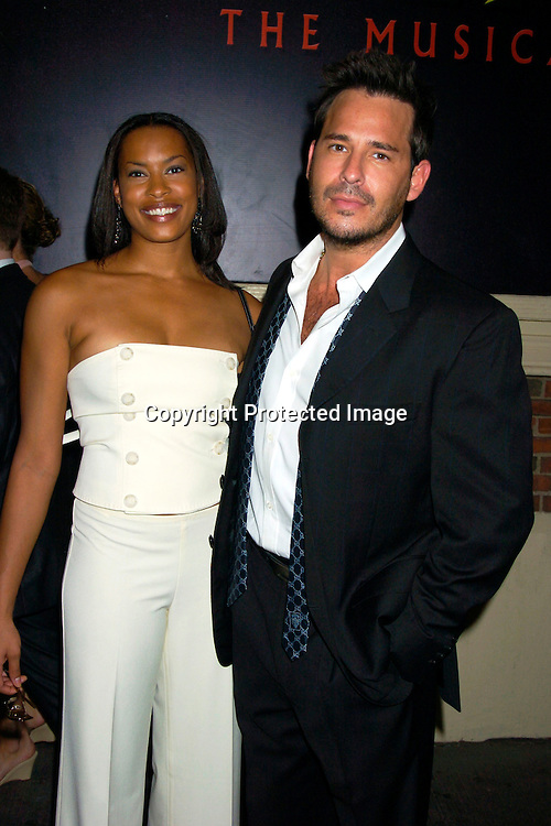 """Kyran Giovanni and Ricky Paull Goldin..at the Broadway opening  of """" Dracula, The Musical"""" on ..August 19, 2004 at The Belasco Theatre in New York City...Photo by Robin Platzer, Twin Images"""