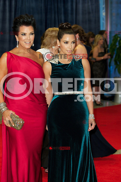 WASHINGTON, DC - APRIL 28: Kris Jenner and Kim Kardashian attend the 2012 White House Correspondents Dinner at the Washington Hilton Hotel in Washington, D.C  on April 28, 2012  ( Photo by Chaz Niell/Media Punch Inc.)