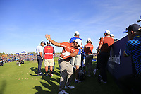Francesco Molinari (Team Europe) on the 11th tee during Saturday's Foursomes Matches at the 2018 Ryder Cup 2018, Le Golf National, Ile-de-France, France. 29/09/2018.<br /> Picture Eoin Clarke / Golffile.ie<br /> <br /> All photo usage must carry mandatory copyright credit (&copy; Golffile | Eoin Clarke)